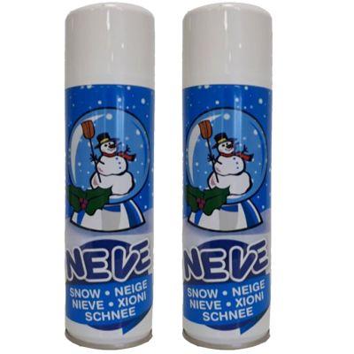 2 Bombolette Spray da 150 ml di Neve Artificiale - Ideale per decorare alberi, presepi ed oggetti di natale